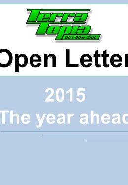 Terra Topia Dirt Bike Club Open Letter 2015